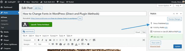 widget html not updating in wordpress